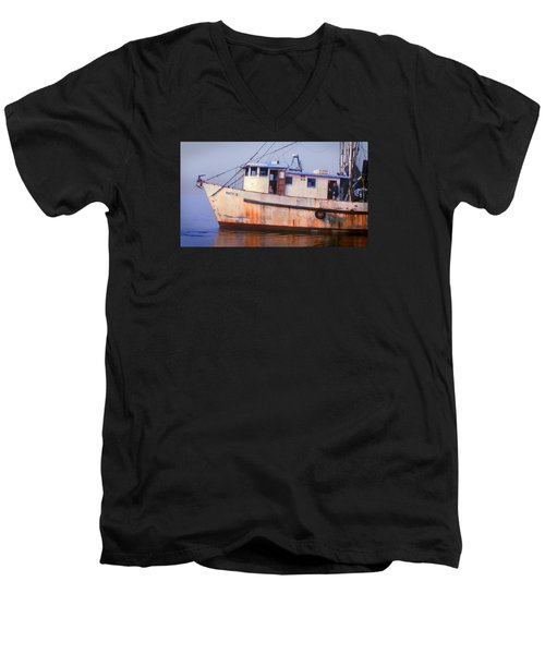 Rusty II And Crew Men's V-Neck T-Shirt by Laura Ragland