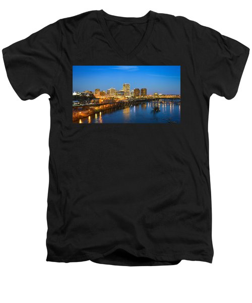 Rva Night Men's V-Neck T-Shirt