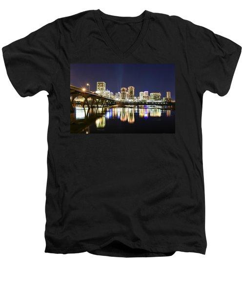 Rva Night Lights Men's V-Neck T-Shirt