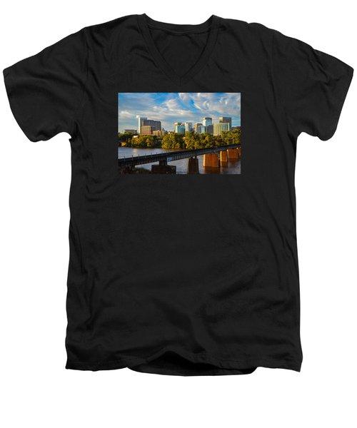 Rva Sunset Men's V-Neck T-Shirt