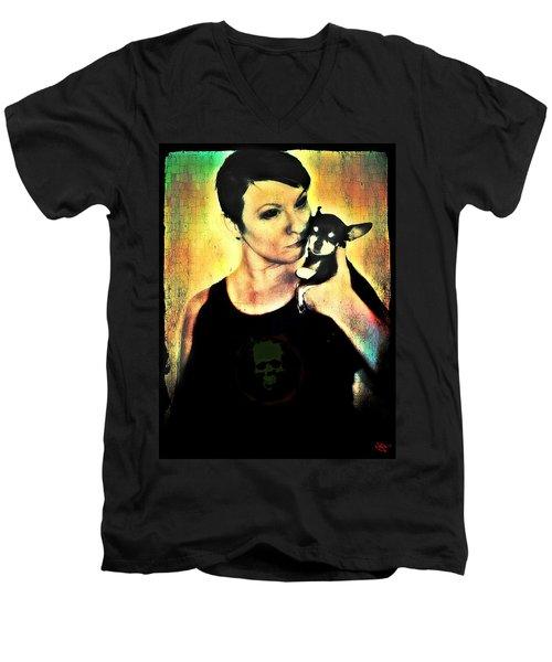 Ryli And Chi-chi 1 Men's V-Neck T-Shirt