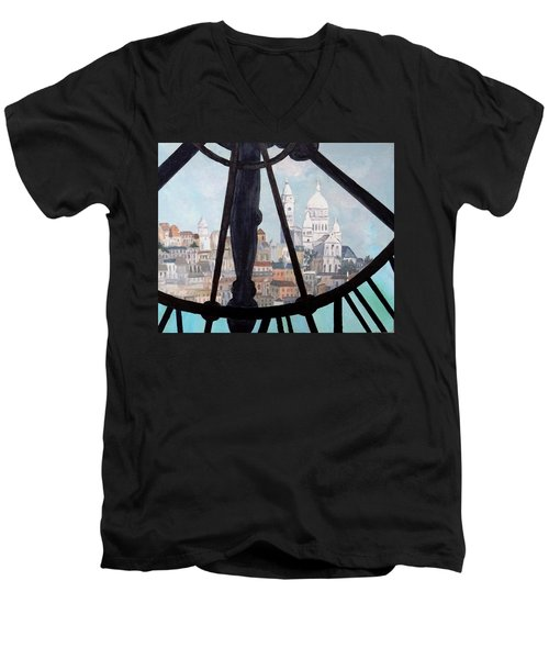Sacre Coeur From Musee D'orsay Men's V-Neck T-Shirt by Diane Arlitt