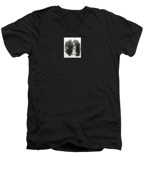Sacred Gate  Men's V-Neck T-Shirt