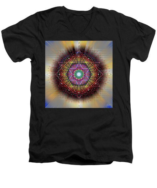 Sacred Geometry 657 Men's V-Neck T-Shirt