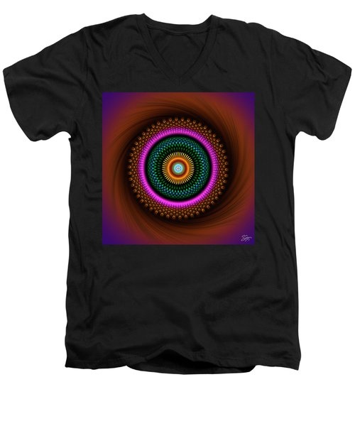 Sacred Geometry 664 Men's V-Neck T-Shirt