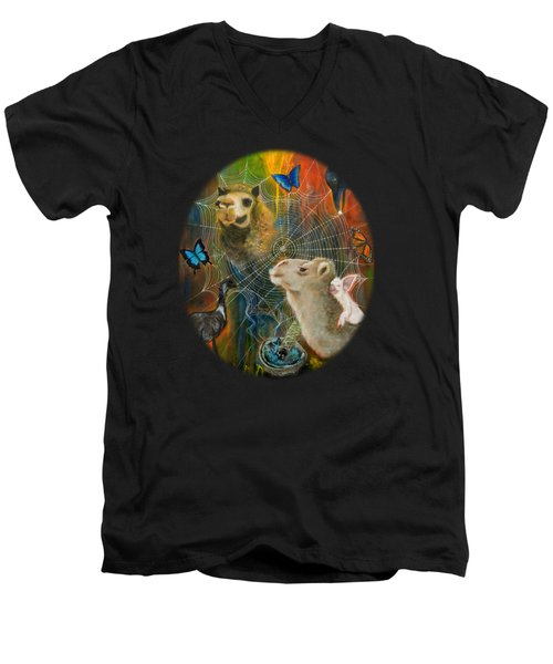 Sacred Journey Men's V-Neck T-Shirt by Deborha Kerr