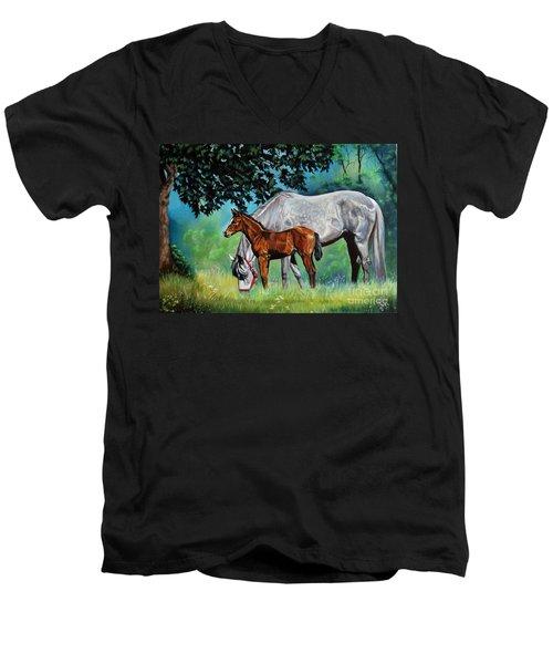 Safe Curiosity Men's V-Neck T-Shirt