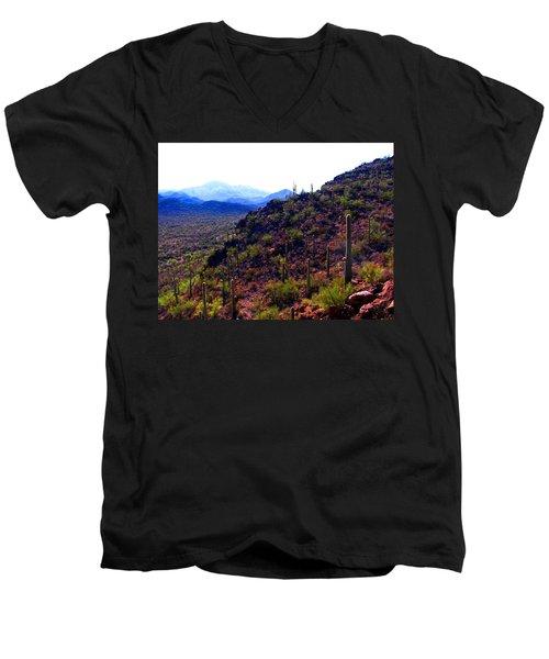 Saguaro National Park Winter 2010 Men's V-Neck T-Shirt