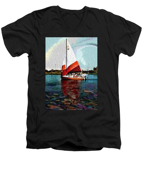 Sail Along On The Sea Men's V-Neck T-Shirt by Vickie G Buccini