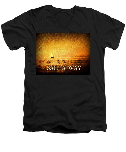 Men's V-Neck T-Shirt featuring the photograph Sail Away by Kathy Bassett
