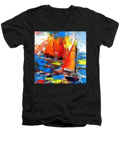 Sail Into The Sunset Men's V-Neck T-Shirt