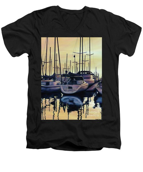 Sailboat Reflections Men's V-Neck T-Shirt