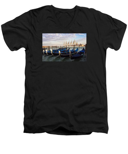 Sailing From Venice Men's V-Neck T-Shirt