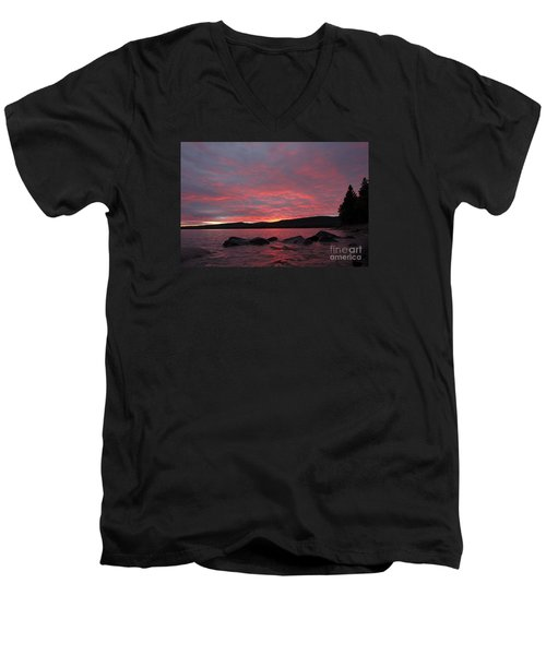 Men's V-Neck T-Shirt featuring the photograph Sailor's Delight by Sandra Updyke