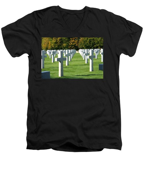 Saint Mihiel American Cemetery Men's V-Neck T-Shirt