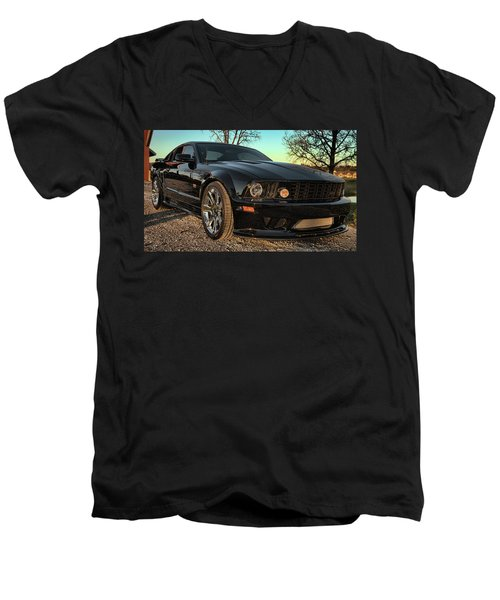 Saleen Men's V-Neck T-Shirt by John Crothers
