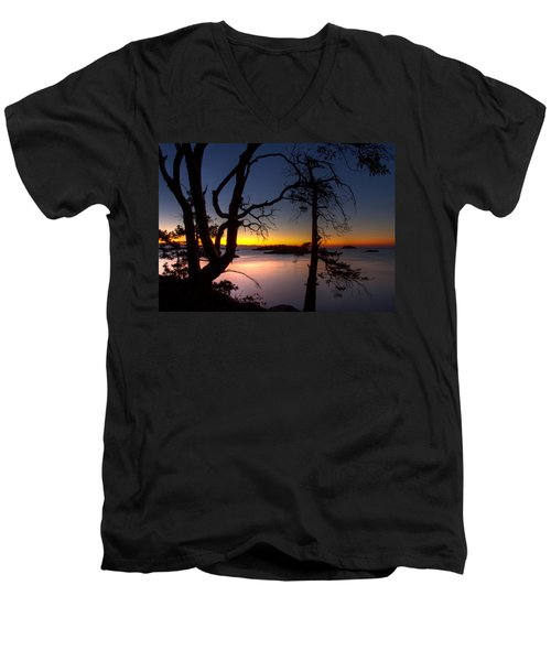 Salish Sunrise Men's V-Neck T-Shirt