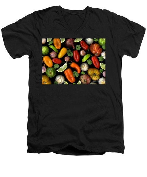 Salsa Men's V-Neck T-Shirt by Christian Slanec