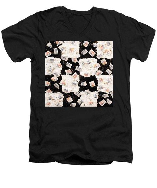 Salt And Pepper Men's V-Neck T-Shirt by Thomas Blood