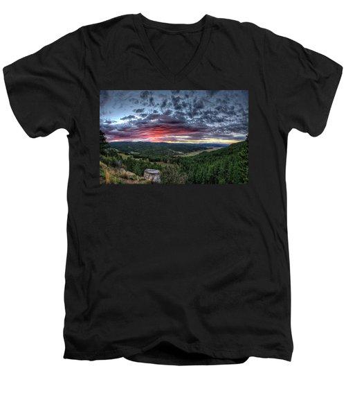 Salt Creek Sunrise Men's V-Neck T-Shirt