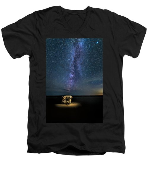 Salt Flats Milky Way Chair Men's V-Neck T-Shirt