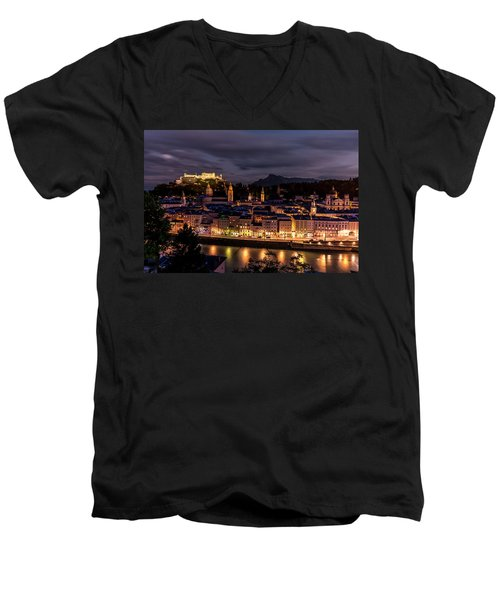 Men's V-Neck T-Shirt featuring the photograph Salzburg Austria by David Morefield