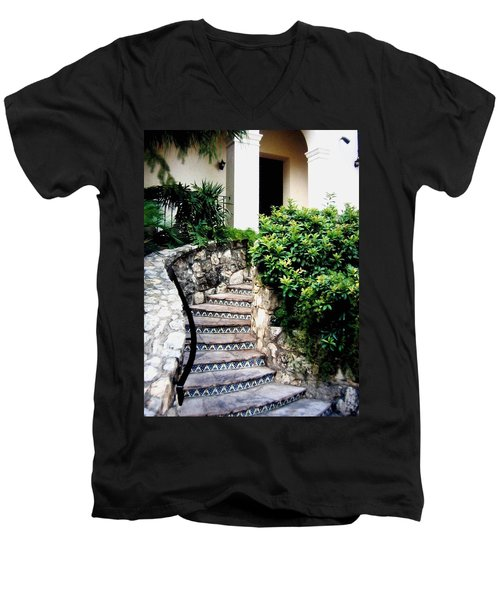 San Antonio Stairway Men's V-Neck T-Shirt