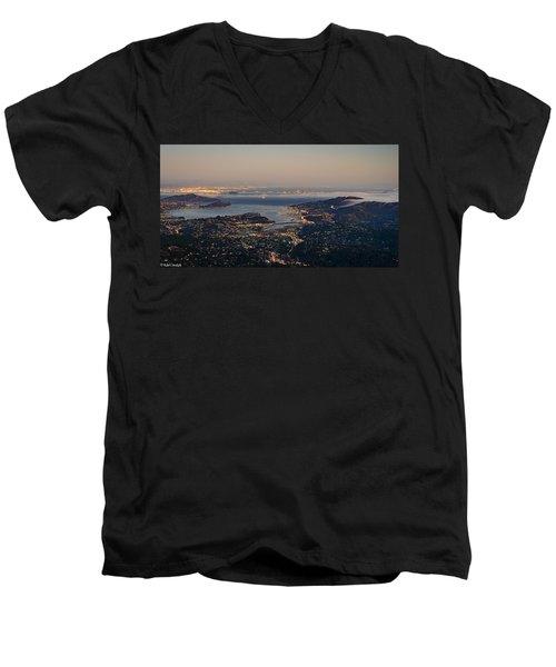 San Francisco Bay Area Men's V-Neck T-Shirt
