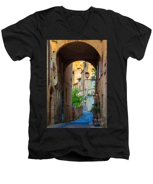 San Gimignano Archway Men's V-Neck T-Shirt