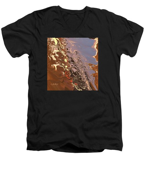 Sand Bank Men's V-Neck T-Shirt by Alika Kumar