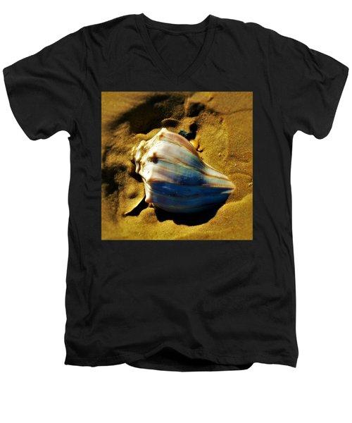 Sand Shell Men's V-Neck T-Shirt by William Bartholomew