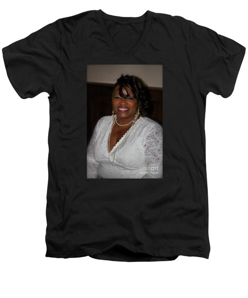 Sanderson - 4537.2 Men's V-Neck T-Shirt by Joe Finney