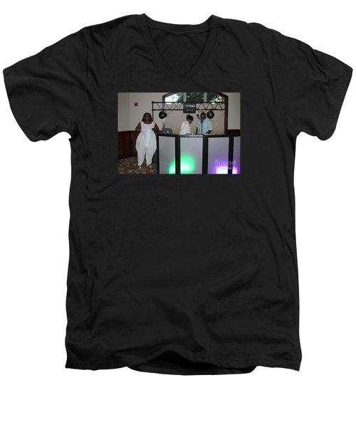 Sanderson - 4539 Men's V-Neck T-Shirt by Joe Finney