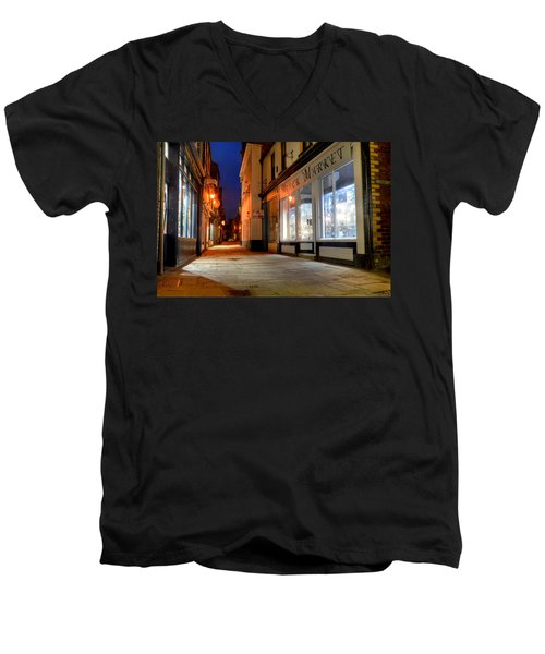 Sandgate, Whitby At Night Men's V-Neck T-Shirt