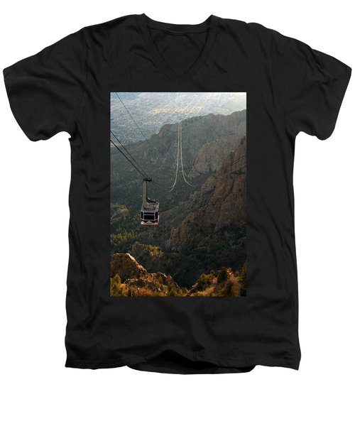Sandia Peak Cable Car Men's V-Neck T-Shirt