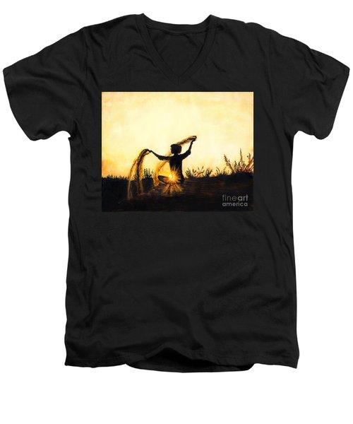 Sands Of Time Men's V-Neck T-Shirt