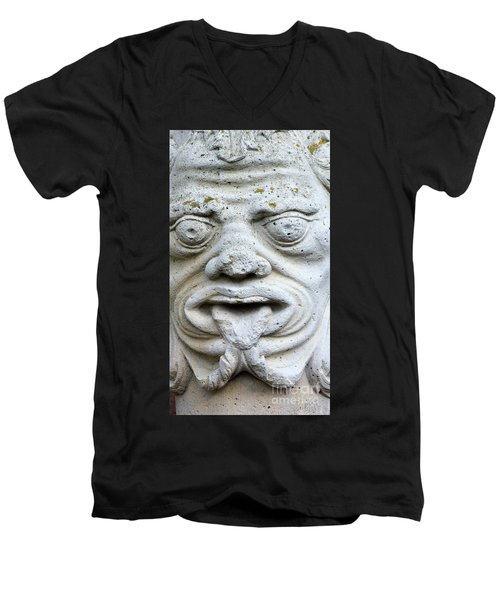 Sandstone Sculpture At The Main Entrance Of The Corvey Monastery Men's V-Neck T-Shirt