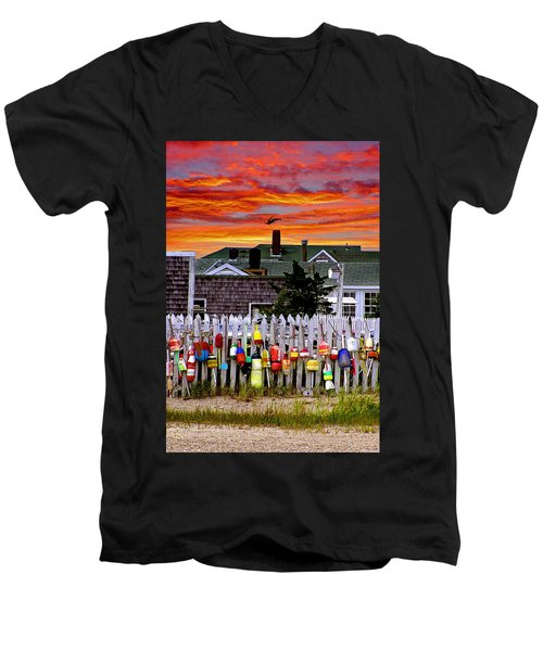Sandy Neck Sunset Men's V-Neck T-Shirt