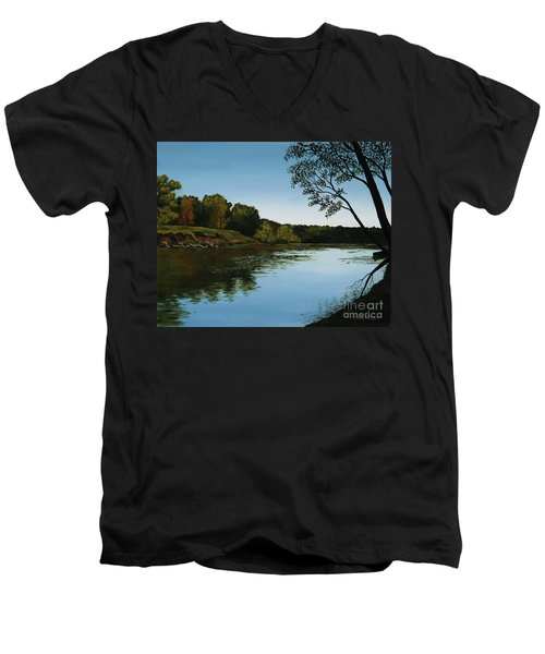 Sangamon Solitude Men's V-Neck T-Shirt