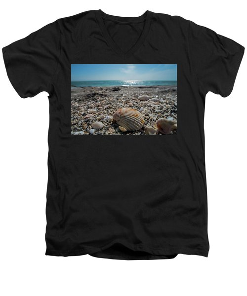 Sanibel Island Sea Shell Fort Myers Florida Men's V-Neck T-Shirt