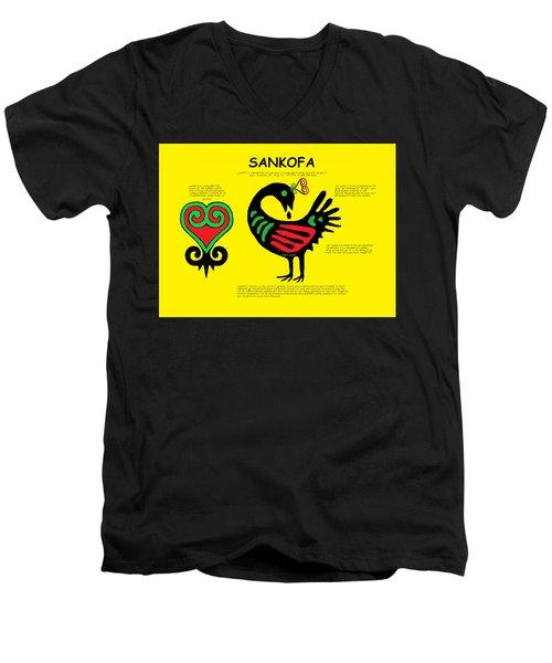 Sankofa Knowledge Men's V-Neck T-Shirt