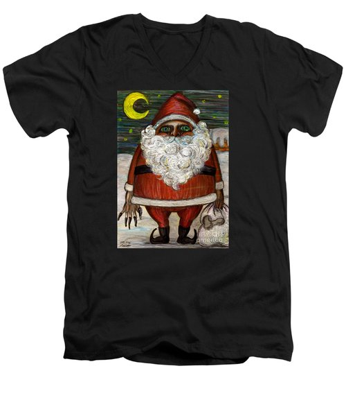 Santa Claus By Akiko Men's V-Neck T-Shirt