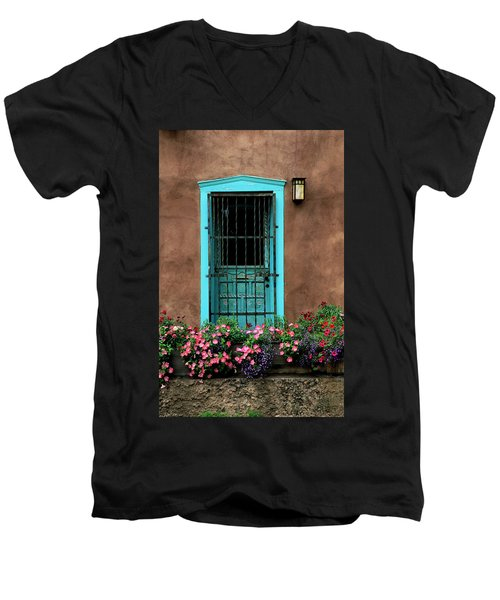 Santa Fe Door #1 Men's V-Neck T-Shirt