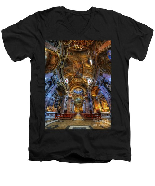 Santa Maria Maddalena Men's V-Neck T-Shirt by Yhun Suarez