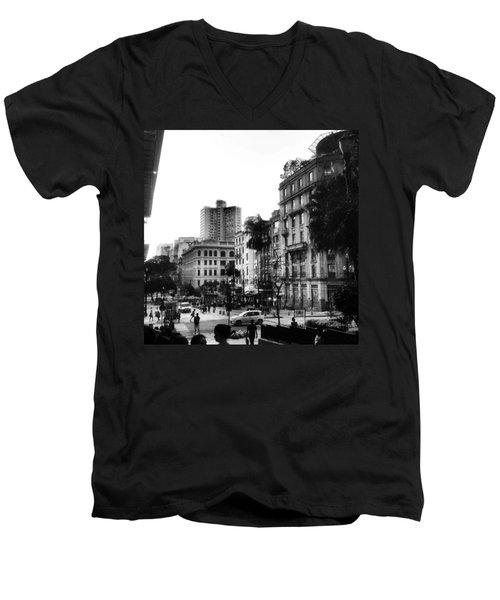 Sao Paulo Downtown #pracaantonioprado Men's V-Neck T-Shirt