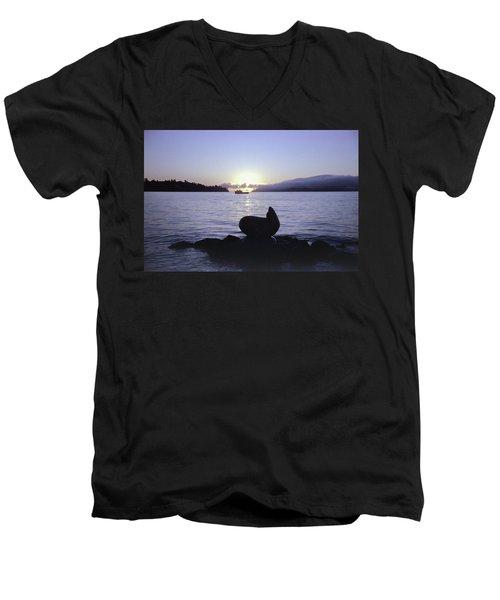 Sausalito Morning Men's V-Neck T-Shirt