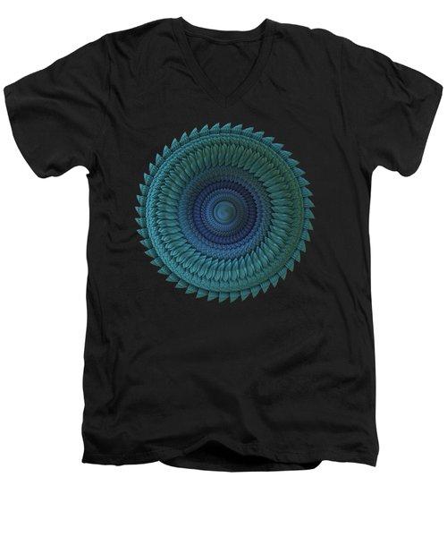 Men's V-Neck T-Shirt featuring the digital art Sawblade by Lyle Hatch