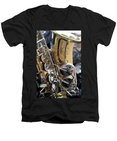 Sax In The City Men's V-Neck T-Shirt