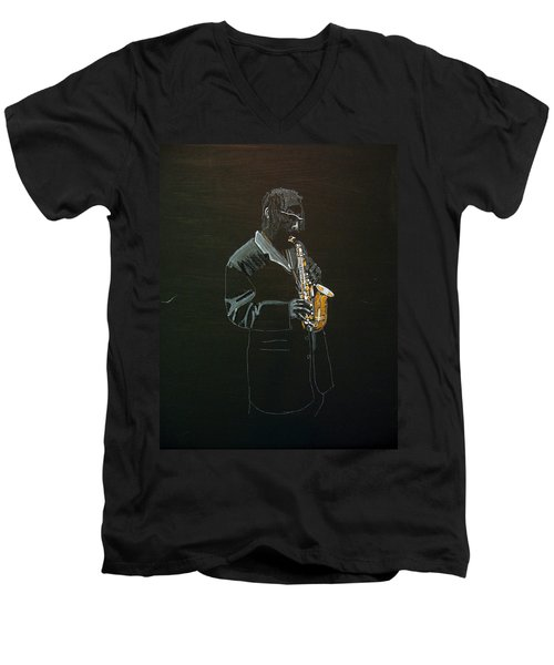 Sax Player Men's V-Neck T-Shirt