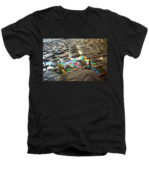 Sayu Flags Men's V-Neck T-Shirt